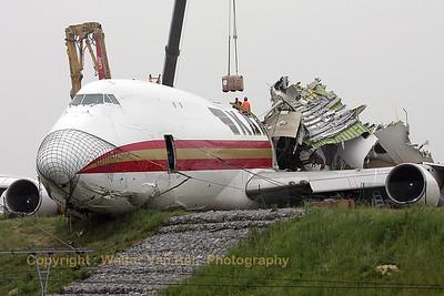 """20080526-20080604_Kalitta Air """"N704CK"""" crash at Zaventem (EBBR)"""