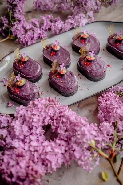 No Bake Blueberry Tarts