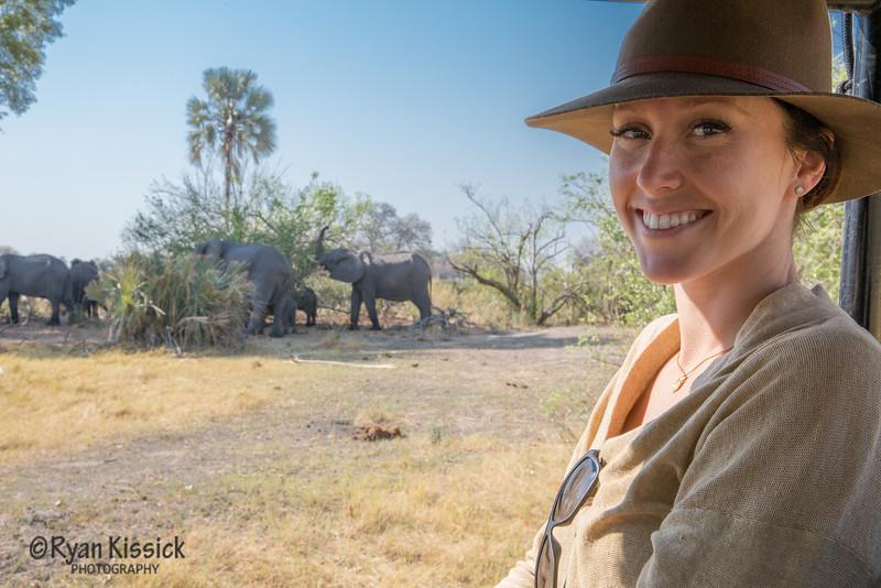 Juliana in the presence of her beloved elephants