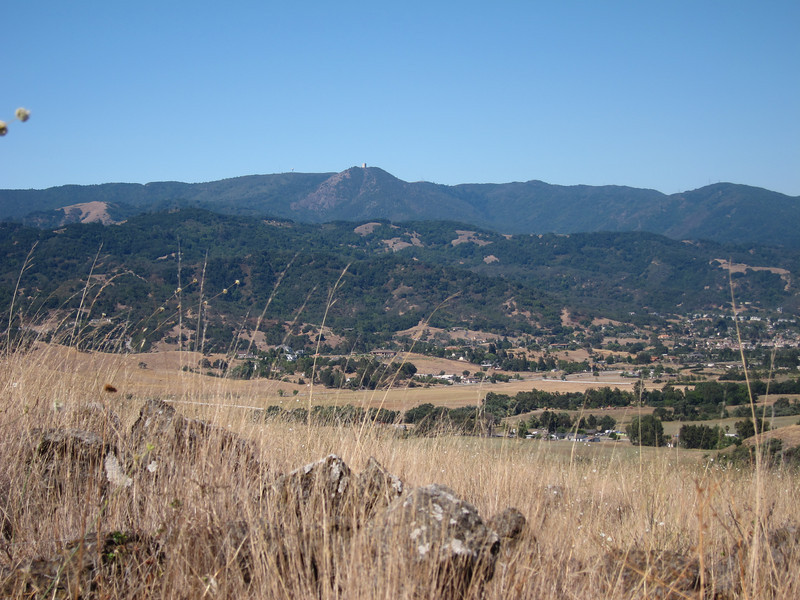 The view of Mount Umunhum was amazingly clear for a warm summer day. Looking across the Almaden Valley.