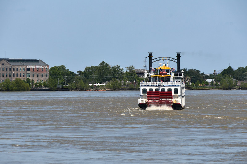 Aboard the Natchez on the Mississippi River