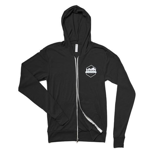 Organ Mountain Outfitters - Outdoor Apparel - Outerwear - Classic Lightweight Zip Up Hoodie - Charcoal Black.jpg