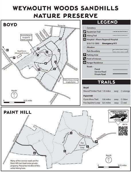 Weymouth Woods Sandhills Nature Preserve (Boyd & Paint Hill Tracts)
