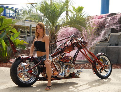 ASHLEY AT THE RATS HOLE CHOPPER SHOW
