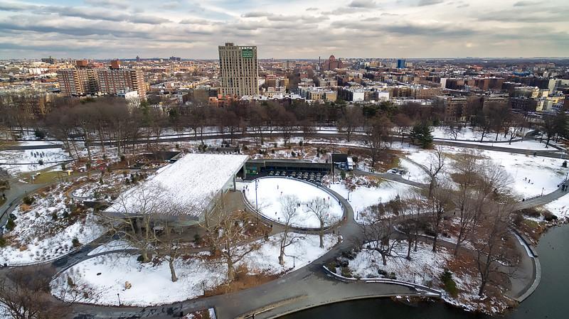 Snow covered prospect park