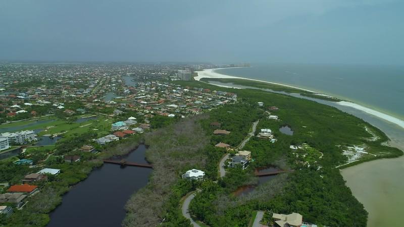High altitude aerial video Tigertail Beach Florida