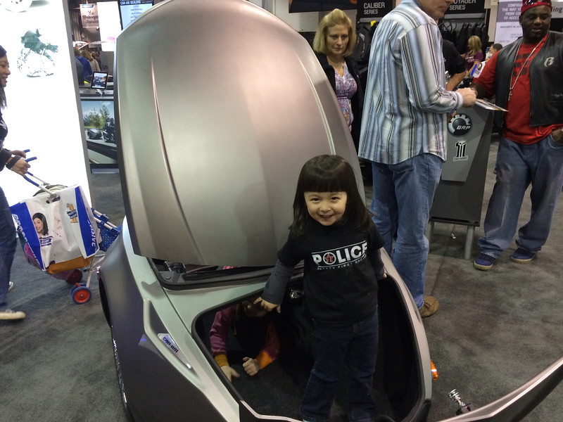Chloe in a trunk