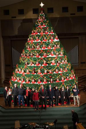 Living Christmas Tree Sunday 2016