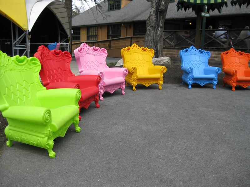 Chairs near Autobahn.