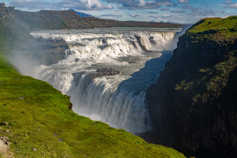 Gullfoss waterfall from another position