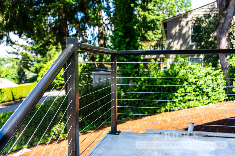 1706 - Aluminum Handrail with Stainless Steel Cable