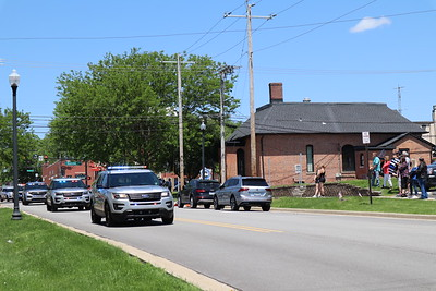 Funeral Procession for Valparaiso Police Dept. Sgt. Steve Kokitz 2020