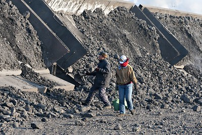 Coal residue dumped for the pickers at Taiping 2
