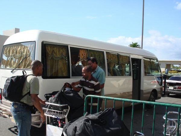 Arriving in Santo Domingo, that's in Dominican Republic.