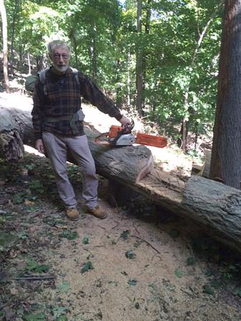 Trail work Fall 2015