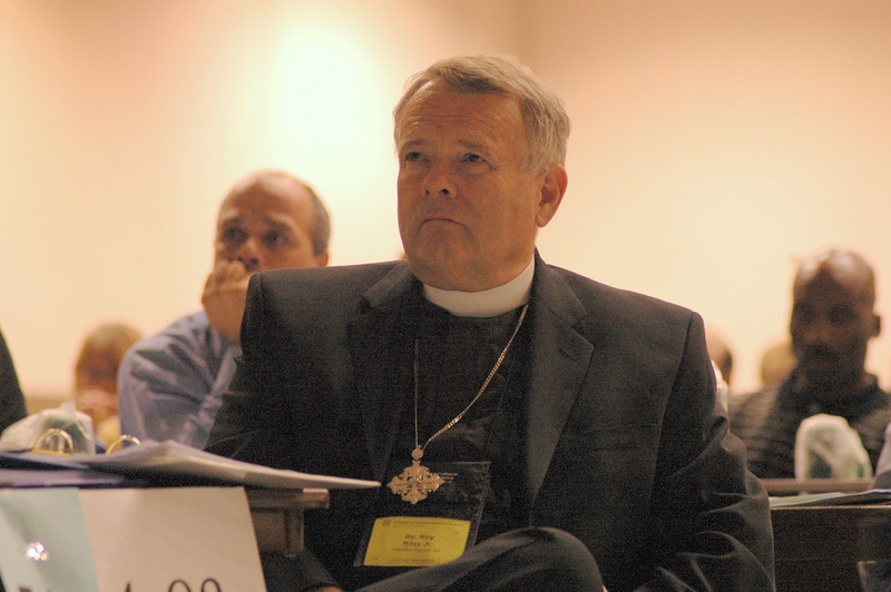 Bishop Roy Riley, New Jersey Synod, at plenary session one.