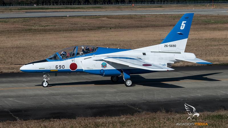 JASDF 11 Hikotai / Kawasaki T-4 / 26-5690 / Blue Impulse Livery
