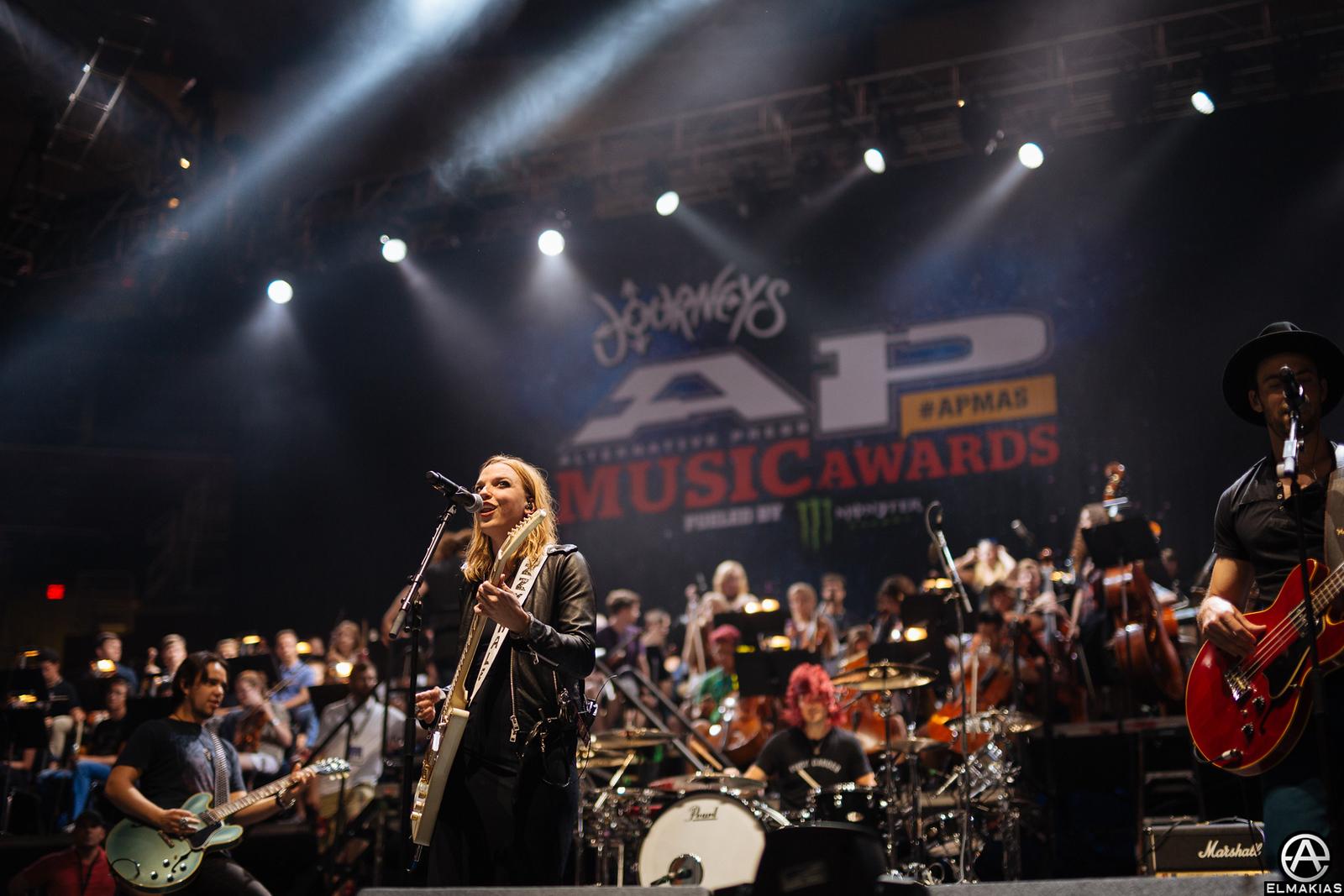 Halestorm at rehearsals for the Alternative Press Music Awards 2015 by Adam Elmakias