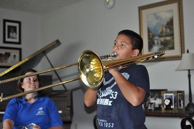 2013-08-21 AJ on Trombone