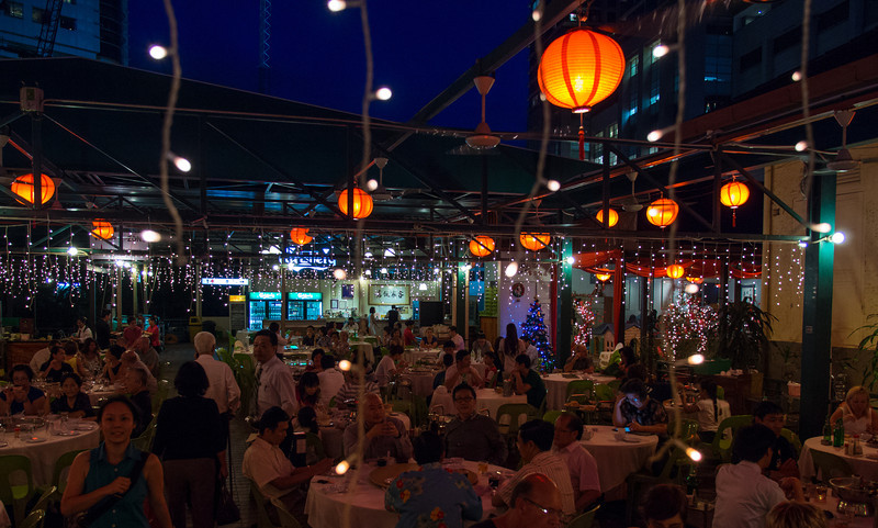 Busy restaurants, nightlife