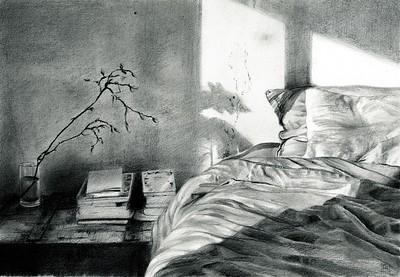 """Dawn"" (charcoal and graphite) by Rosanna Gaddoni"