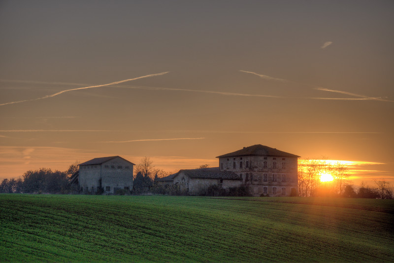 Sunset - Albinea, Reggio Emilia, Italy - December 7, 2011