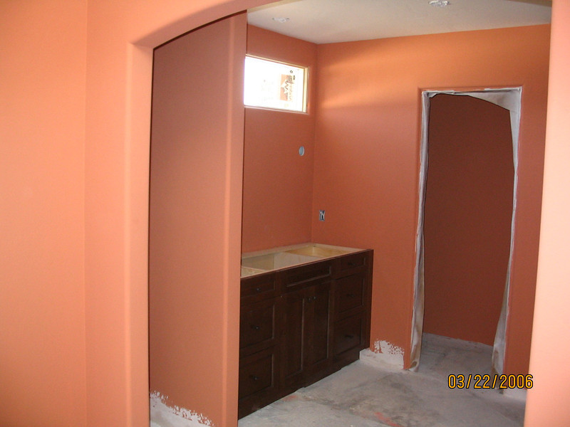 Master bath, fully painted.