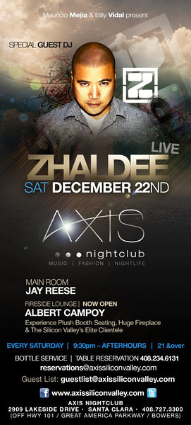 Zhaldee @ AXIS Nightclub 12.22.12