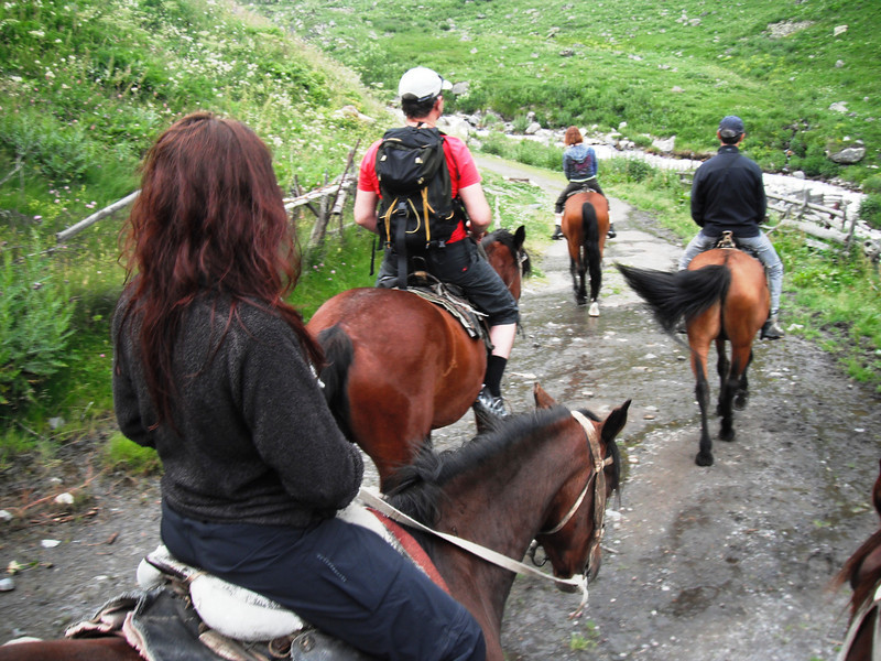 5 of us were on the horses.