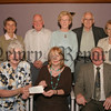 Newry Combat Cancer Committee who held their AGM recently. Rene Faloon (treasurer) hands over a Cheque for £16.000 to Patricia Liesching (developing officer ulster cancer foundation) on behalf of the Newry Branch, also pictured are Eddie Mc Ateer (chairman), Elizabeth Holt (secretary) and committe members Herbi & Dorothy Murphy, Katherine Mc Gladdery and Godfrey Mc Whirter. 06W27N53