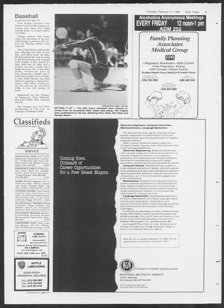 Daily Trojan, Vol. 100, No. 23, February 11, 1986