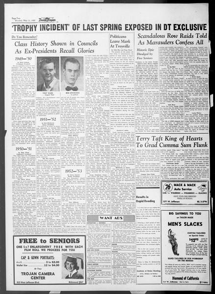 Daily Trojan, Vol. 44, No. 129, May 11, 1953