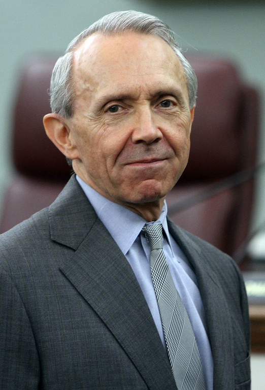 . Former U.S. Supreme Court Justice David Souter is seen, Thursday, July 19, 2012 in Concord, N.H. (AP Photo/Jim Cole)