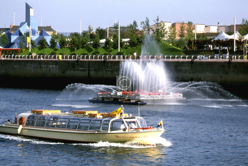 Sir William Wallace river-bus, fireboat, Glasgow Garden Festival.    August 1988