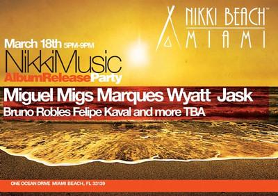 """<FONT SIZE=""""1"""">Nikki Music Album Release Party @ Nikki Beach Miami 3.18.12"""