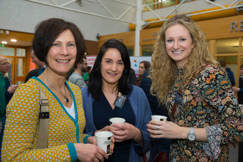 22/02/2018. Research Sparks in Waterford Institute of Technology. Pictured are Niamh Murphy, Hazel O'Brien and Sarah Jane Cullen. Picture: Patrick Browne