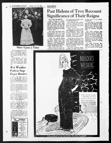Daily Trojan, Vol. 57, No. 44, November 19, 1965