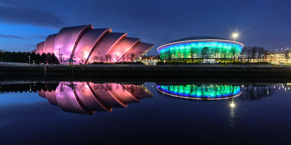 Armadillo reflections: autumn in Glasgow