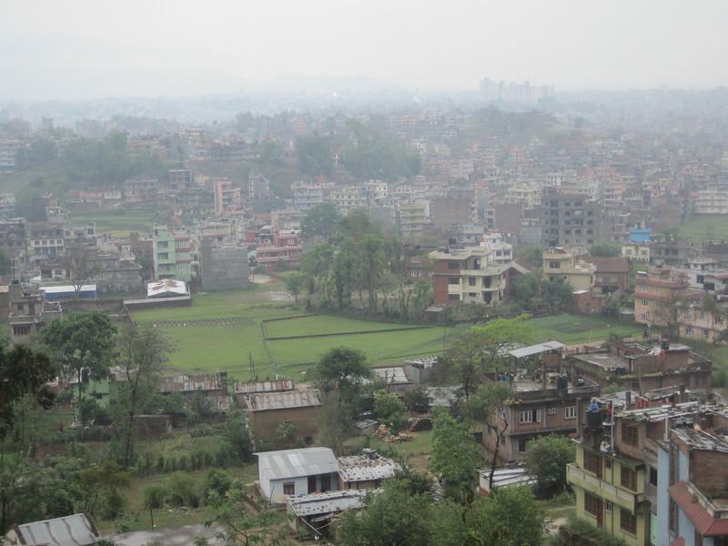 Urban sprawl in Nepal.