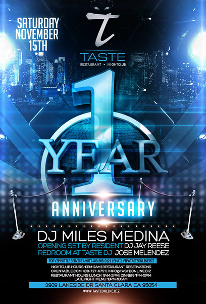 "<FONT SIZE=""1"">With Miles Medina @ Taste Restaurant • Nightclub 11.15.14"