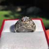 0.94ctw Vintage Old European Cut Diamond Dome Ring, Center OEC (GIA .59ct G SI2) 25