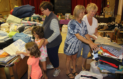 Collecting Clothing, Donations for Fire Victims, Elks Lodge, Tamaqua (9-21-2013)