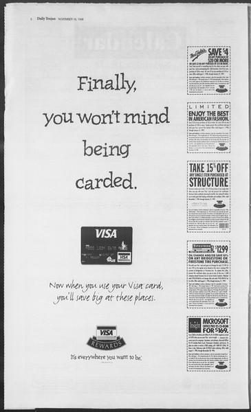 Daily Trojan, Vol. 129, No. 56, November 18, 1996