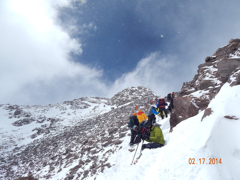 On way to the summit.