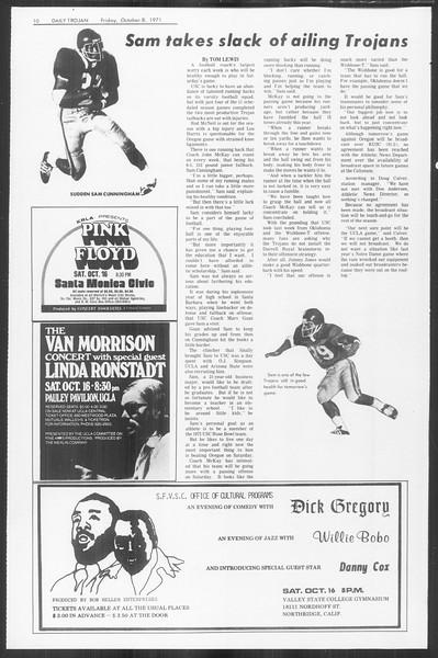 Daily Trojan, Vol. 64, No. 14, October 08, 1971