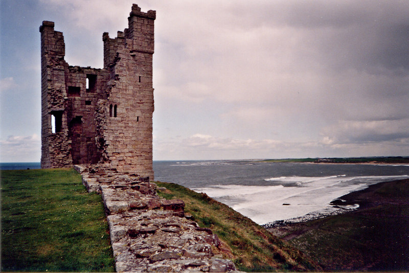 Another view of the ruins of Dunstanborough.