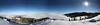 Panorama of an Inversion to the Gore Range from McCoy Peak, CO.