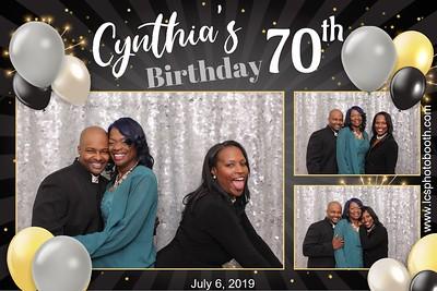 Cynthias 70th birthday 7/6/19