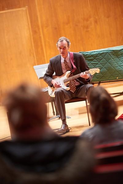 -UWL UW-L UW-La Crosse University of Wisconsin-La Crosse; Band; Candid; Center for the ArtsCFA; Chancellor Joe Gow; Classroom; day; December; Inside; Man men; Music; Professor; Speaking