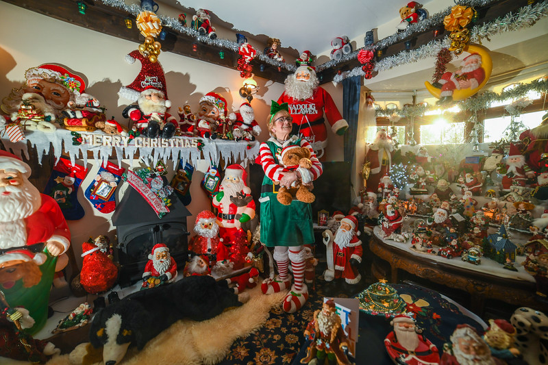 8th November 2019, Swansea Pictured is Betty-Ann Jones, who has transformed her home in Pontardawe, Swansea, into a Christmas wonderland for the festive period to raise money for charity.